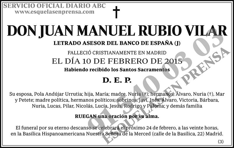 Juan Manuel Rubio Vilar